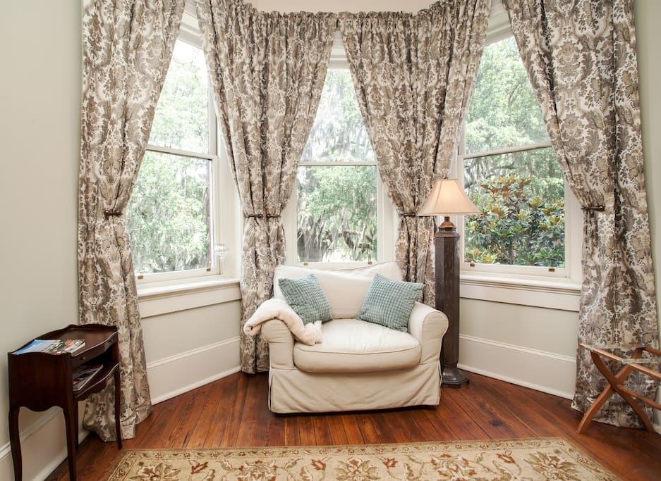Bay windows were common in Victorian era homes.  Our bay window faces Forsyth Park.