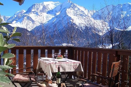 Beautiful chalet facing the Mont Blanc - Saint-Gervais-les-Bains - Chalet