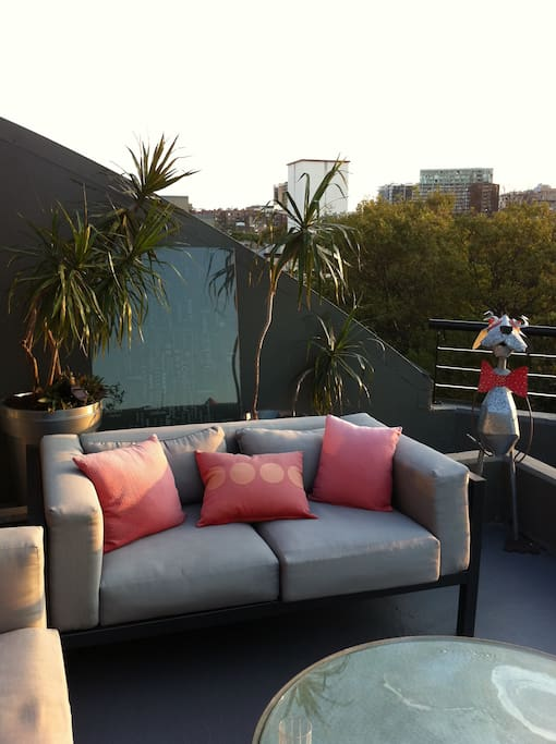 Fab roof terrace with great city views