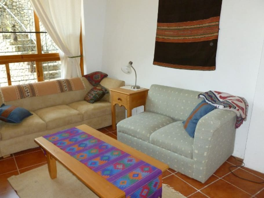 Living room with cable TV and WiFi (high speed internet)