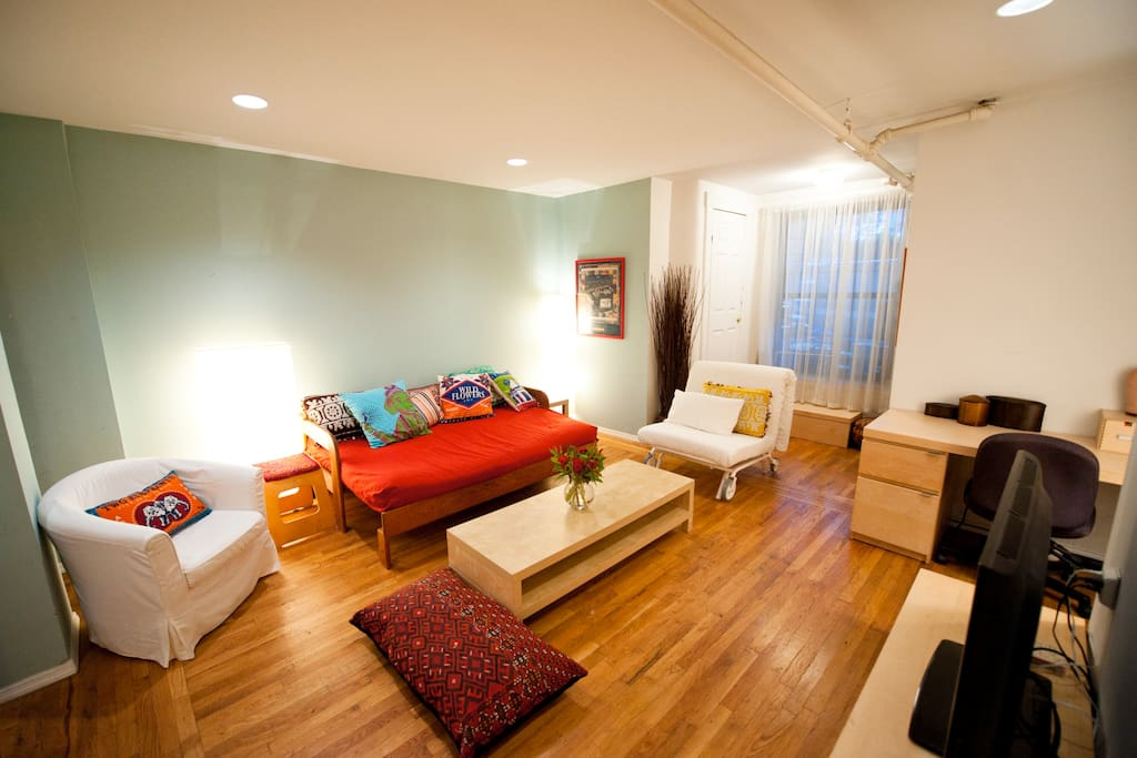 comfortable seating for five or more guests