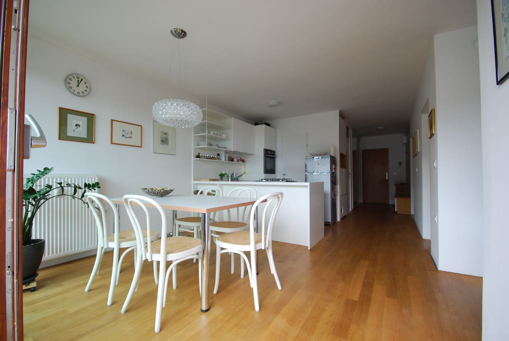 Modern open-plan flat in the centre