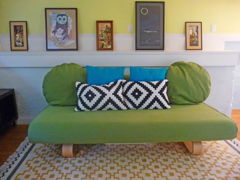 Sleeper sofa will accommodate a third person