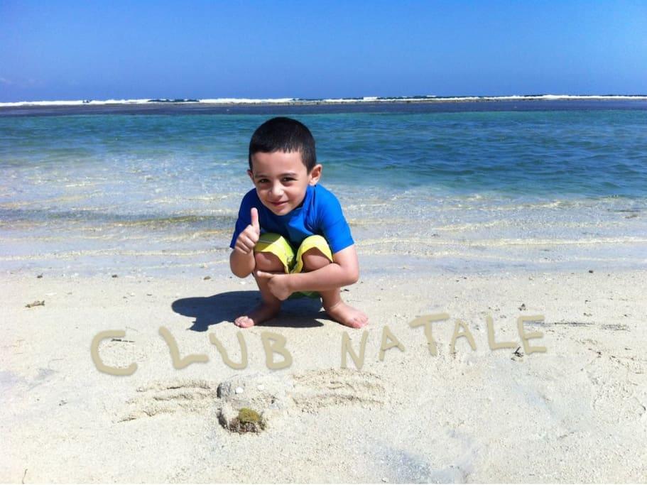 Private White Sand Beach and Calm Blue Water Lagoon!!