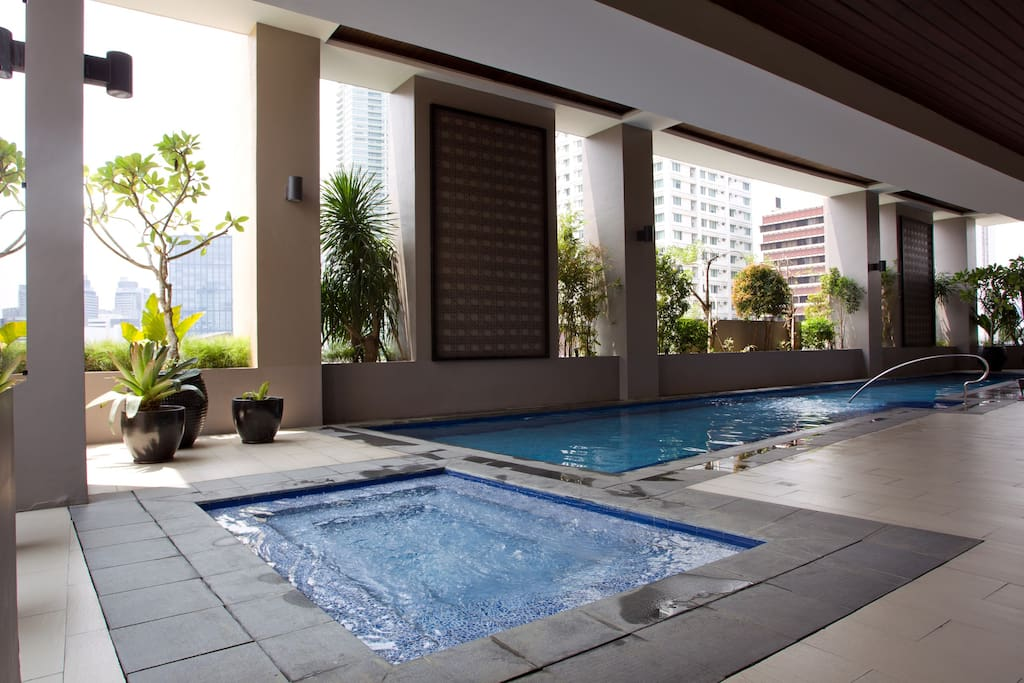 Lap pool, Jacuzzi, and Kiddy pool