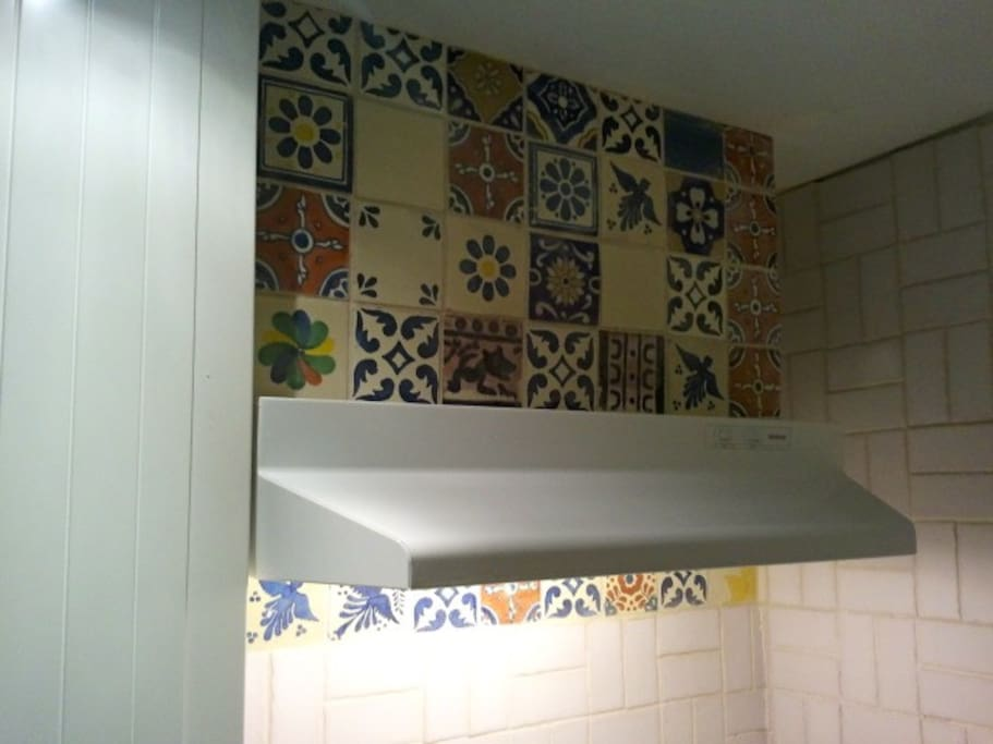 New tiles over the stove