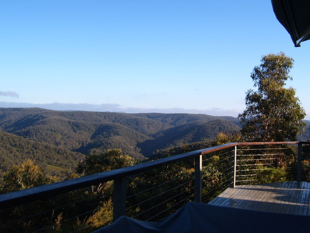 Day time vista from expansive deck