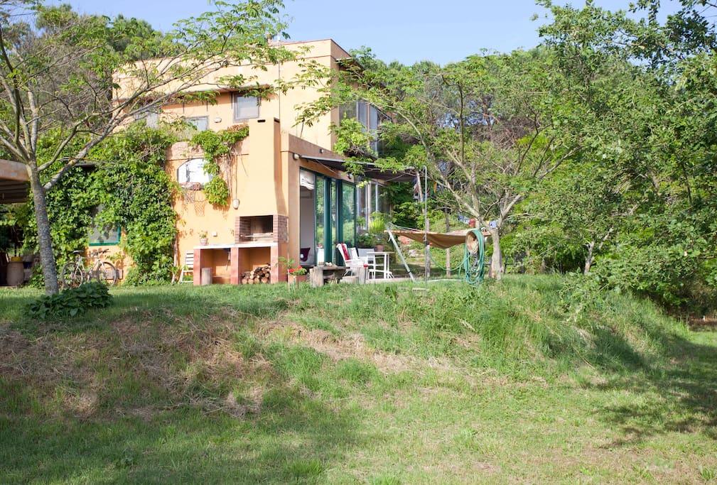 bio-apartament rural de Can Pol de les Bòries, davant el bosc