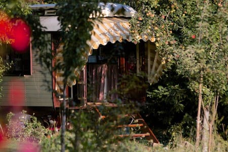 Romantic Authentic Gypsy Wagon  - La Chabanne