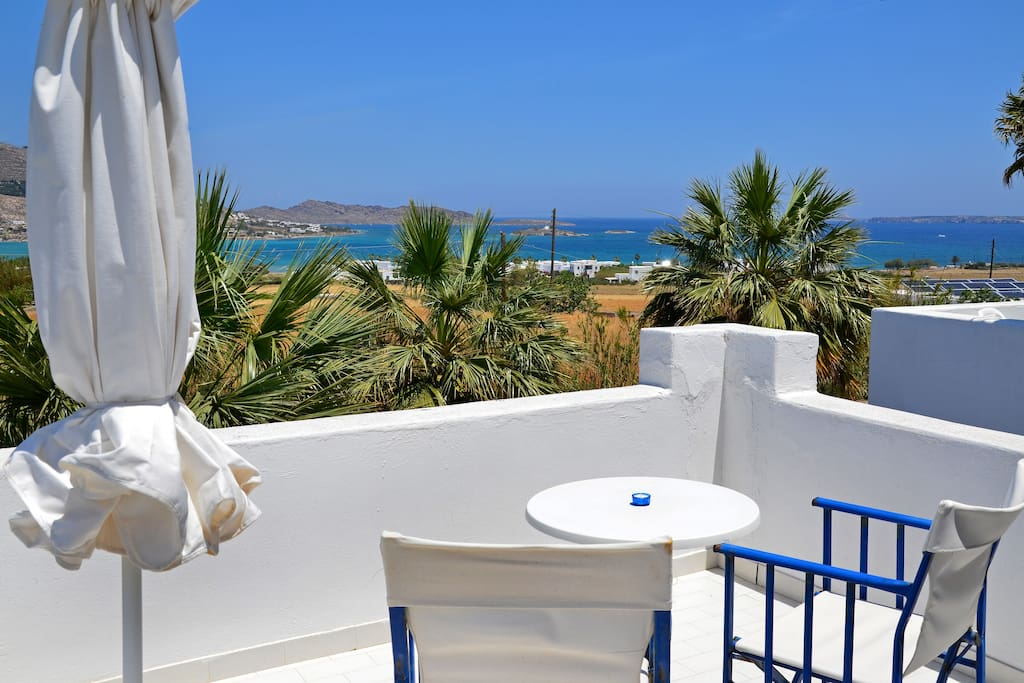 Private Balcony with Sea View @ Dreams Apartment Paros