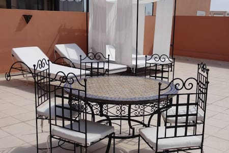 100 m2 private Roof terrace, Pool - Marrakesh - Apartment