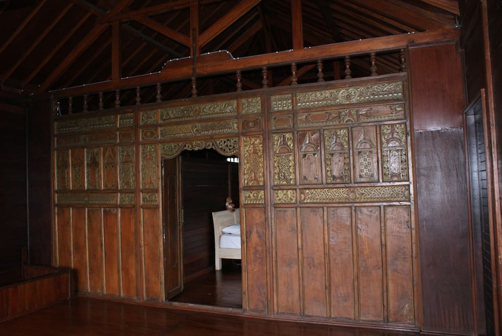 Antique wooden wall