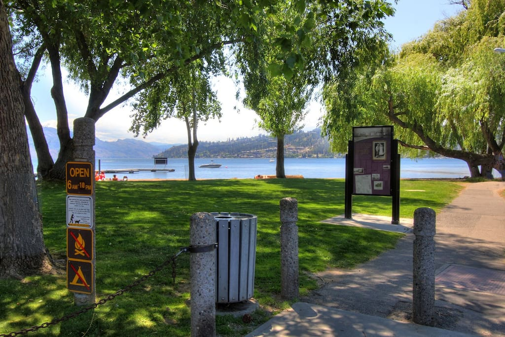 A two minute walk to the beach and downtown Kelowna!
