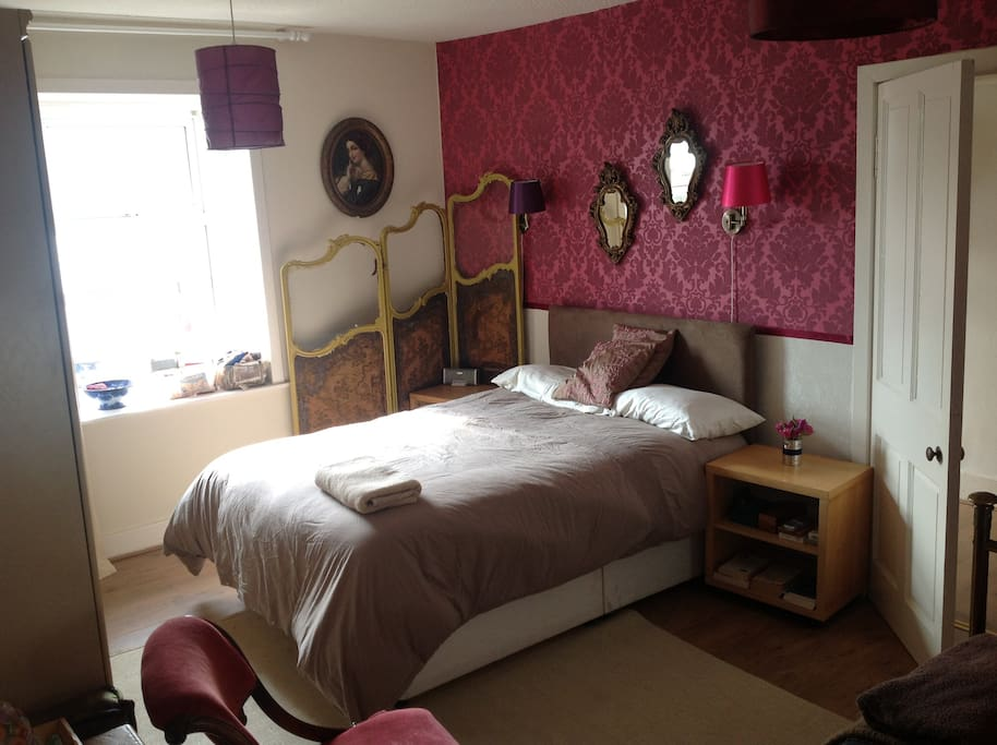 The double bed in the triple room. This listing is also available for B&B