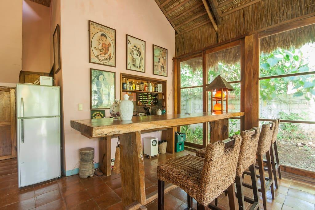The bar is great for casual dining and entertaining.