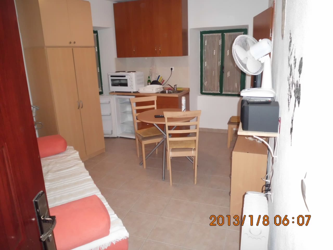 This is apartment on the first floor