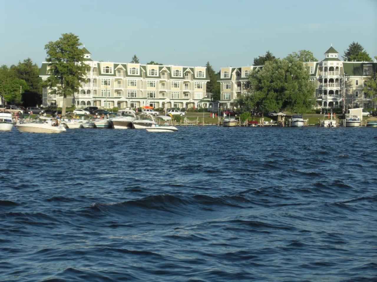 VIEW of Bemus Point Condos from the lake 5 minites from the house