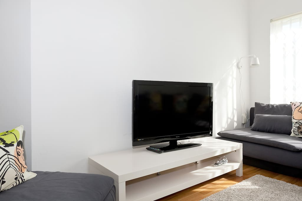 The satellite TV has a wide range o fchannels