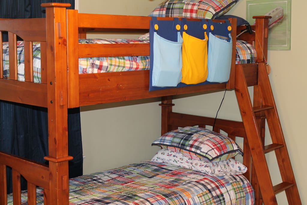 Bunk beds with trundle that may be UNbunked, if requested.