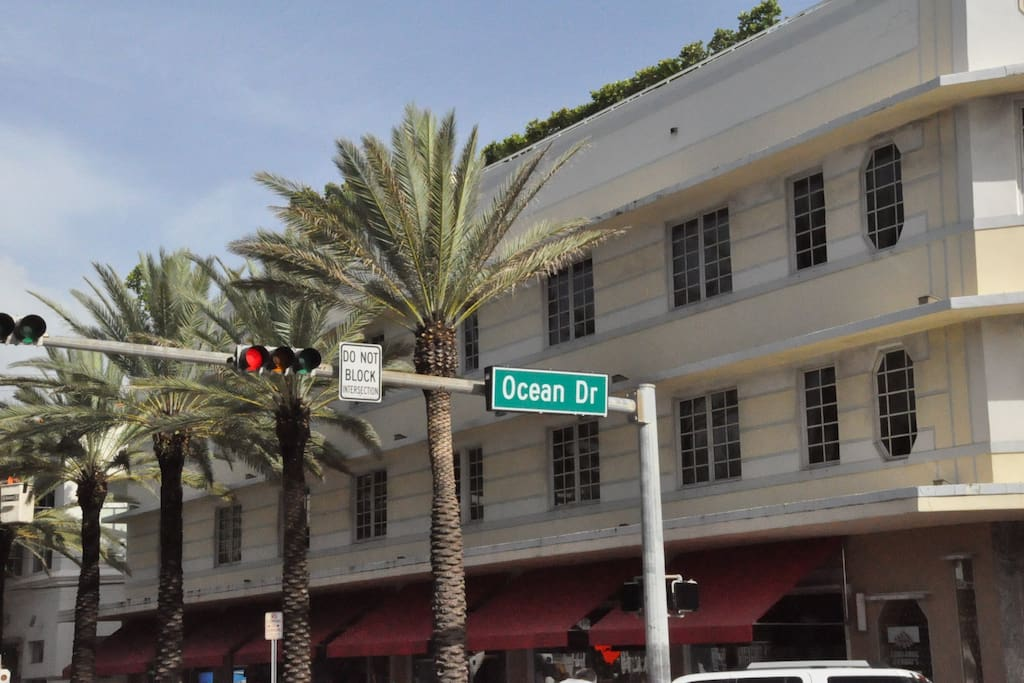 The Bentley Hotel - Where w are located - Ocean Drive and Fifth Avenue.