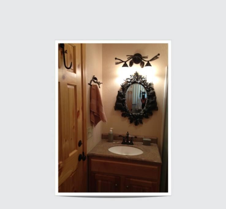 Vanity in our bathroom.