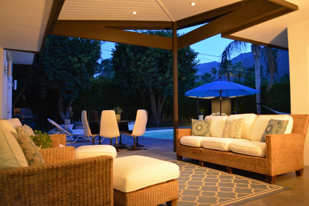 Outdoor Living Room-Lots of seating & gorgeous mountain views