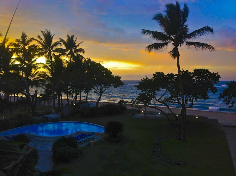 amazing caribbean sunsets from the terrace