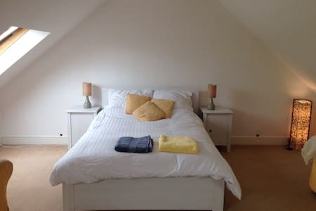 Large airy attic room with ensuit - House
