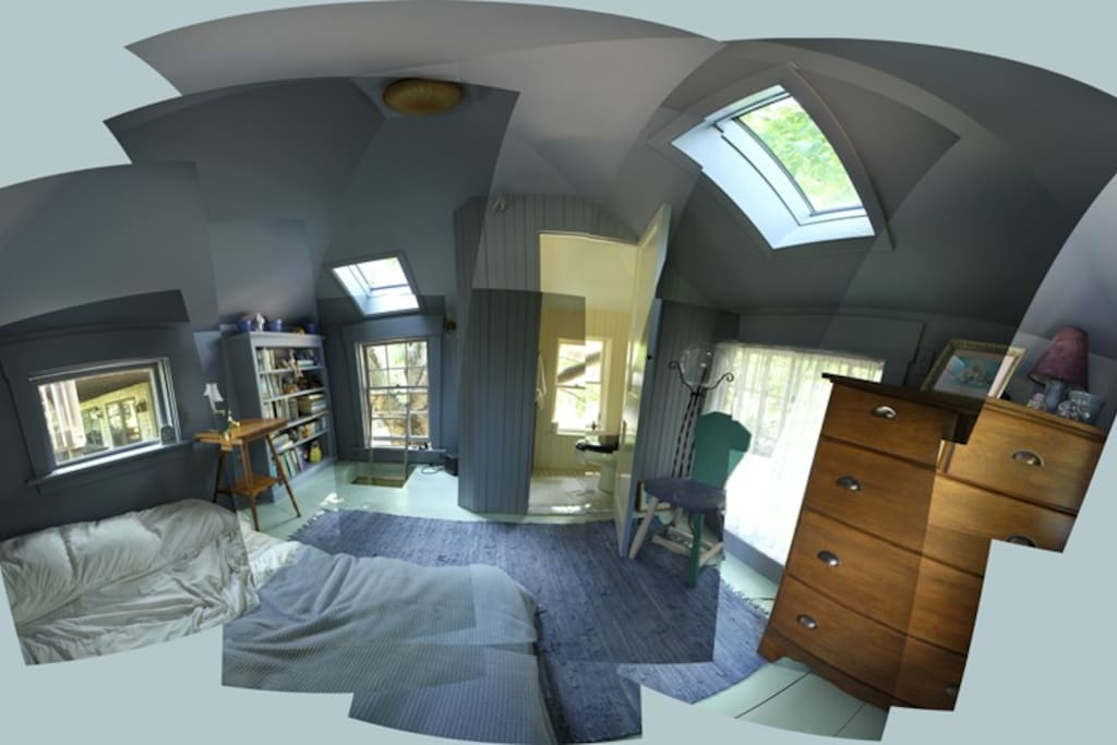 First floor (wide angle lens- actual size 11' by 11')