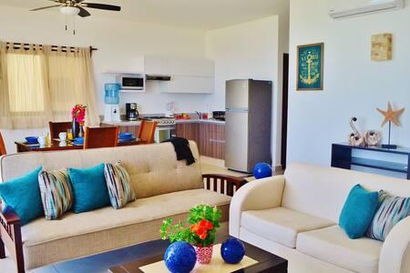 Condo Del Mar #3 - 2BR Beach Front - Puerto Morelos - Apartment