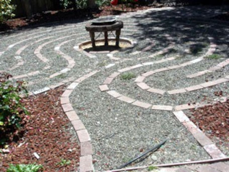 Labyrinth in the Rose Garden