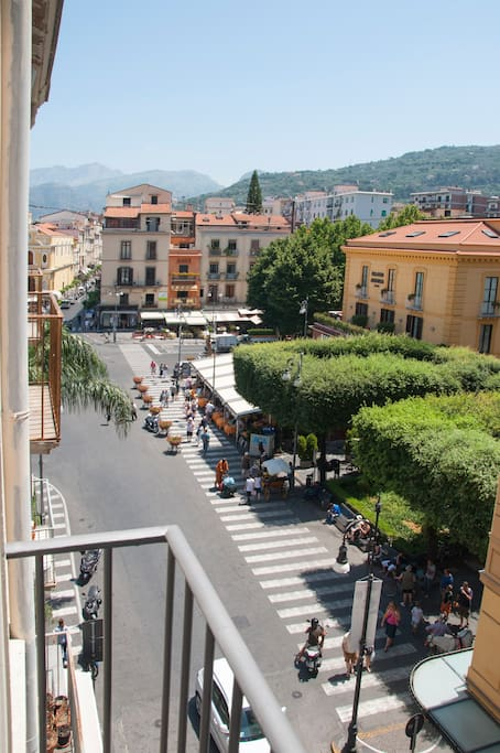 View from the apartament on main square of Sorrento