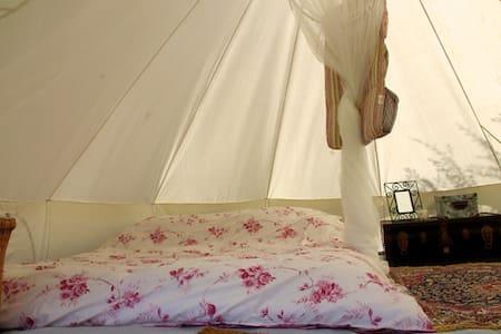 Large Canvas Bell Tents  - Serramonacesca