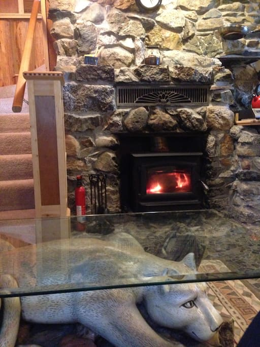 here is the new wood stove.