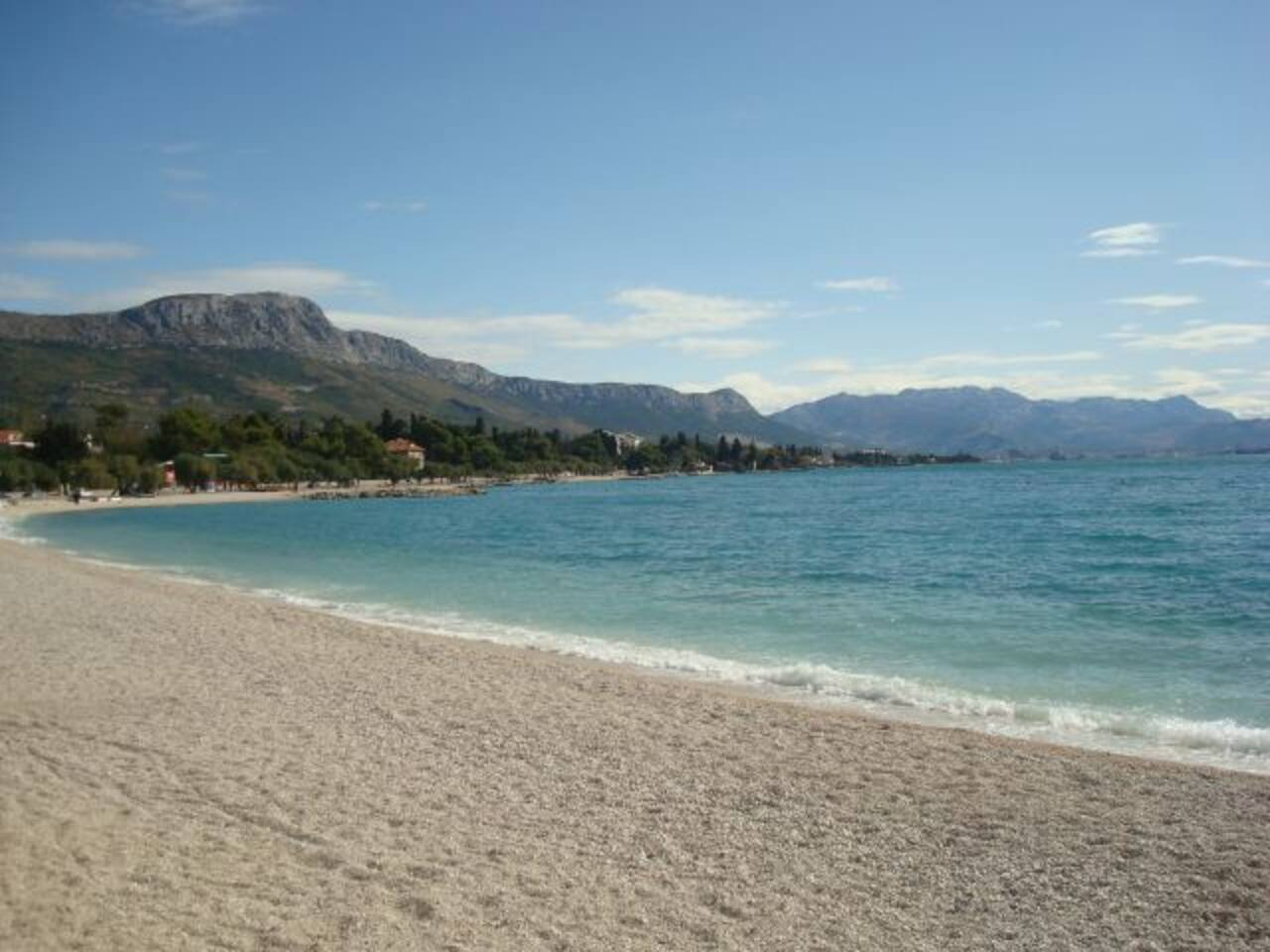 This beautiful pebble beach is only a few minutes away!  Enjoy the clear blue water and stunning view of the Kozjak mountain!