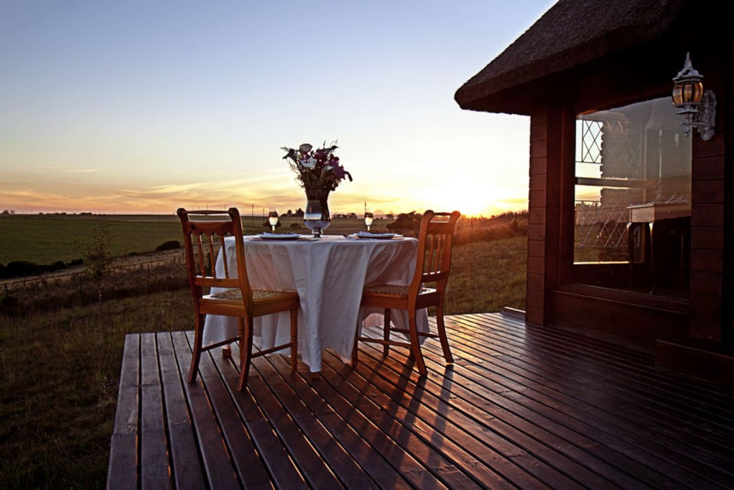Experience romantic African sunsets on the deck.