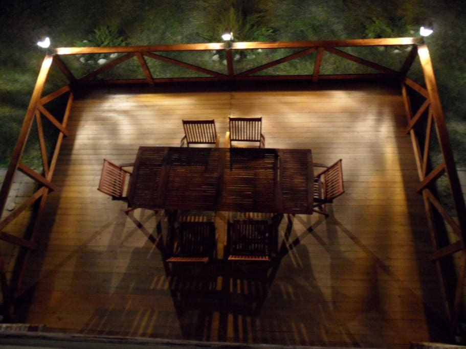 enjoy our new deck during those hot days and cool nights...