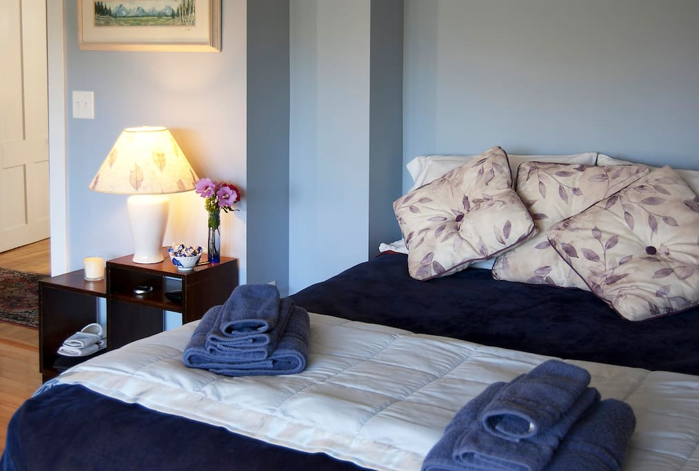 Plenty of towels and soft linens to pamper you....
