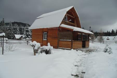 Деревянный двухэтажный дом . - Vorokhta - Hus