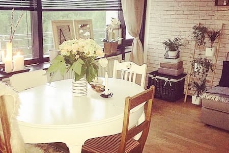 Cozy, central getaway for 1-3 per., with balcony - Brabrand