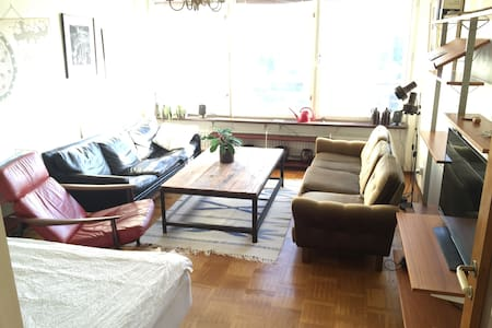 Big room 10 min from Sthlm C - Sundbyberg - Apartamento