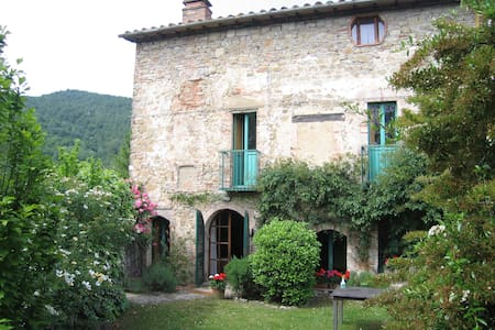 A spacious & characterful old house with walled & hillside gardens on a historic Umbrian hillside - ideal for a comfortable relaxing break in peaceful surroundings; yet with glorious medieval and Renaissance towns in easy reach.