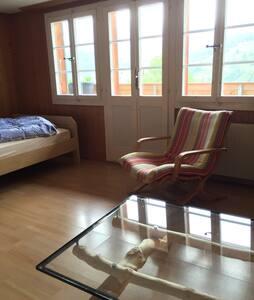Ruhiges Zimmer, wunderschöne Lage - Grindelwald - Apartment