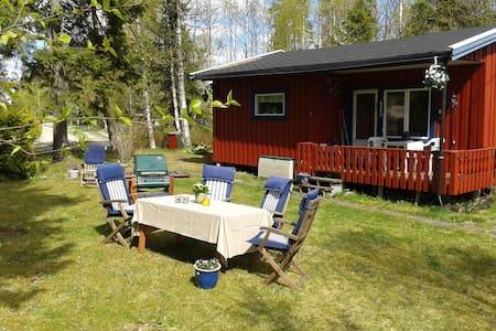 4.pers Norwegian style cabin, free Wifi, near Oslo - Hemnes - Zomerhuis/Cottage