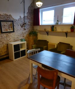 Cosy recycled style studio room with easy access - Gent