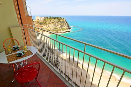 Sea View Balcony into the Cliffs - Tropea - Lejlighed