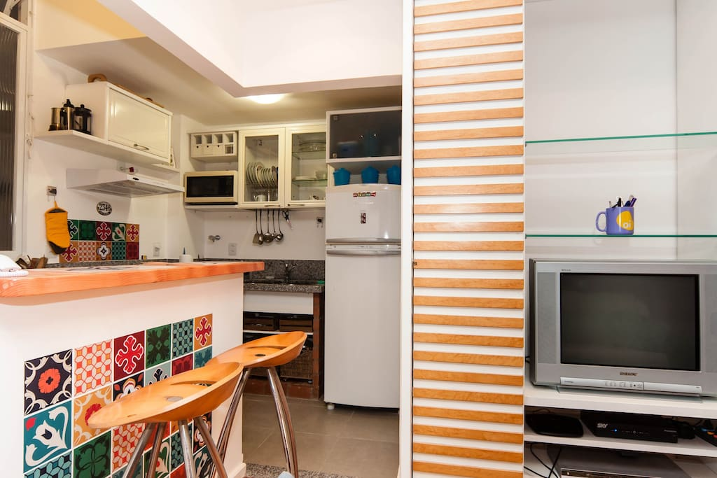 This apartment has been recently renovated.
