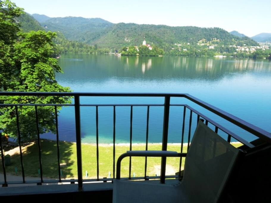 Amazing view of Lake Bled from the balcony