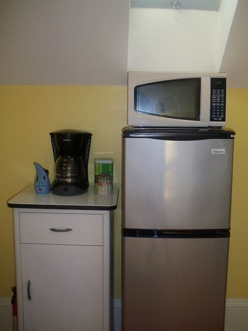 Vintage Kitchen... with a few modern amenities.  We have a coffee maker, fridge and microwave available
