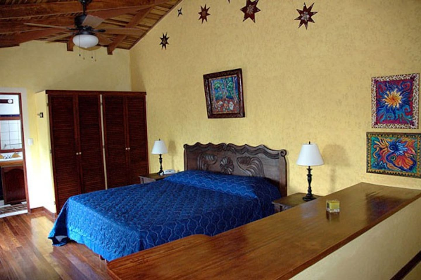 All our rooms have cable TV, wireless internet, telephone, safe and a ceiling fan.
